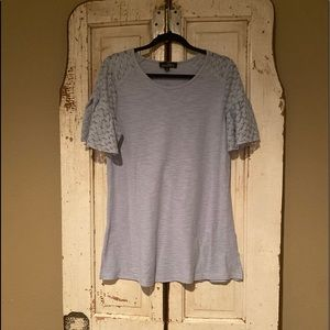Light blue bell sleeve top Size: L